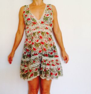 Kleid Spitze floral Mohnblumen Boho-Kleid romantic  Denny Rose S