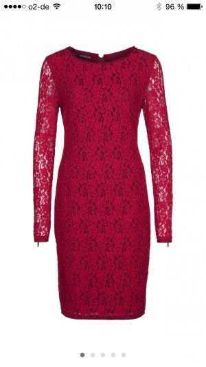 Kleid spitze rot apart 38