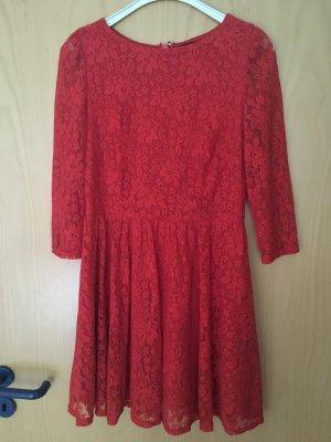 Kleid spitze rot Topshop