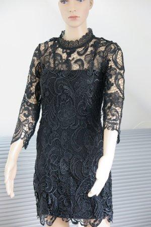 Kleid , Spitze , schwarz