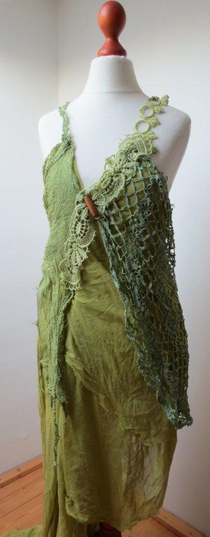 Kleid, Spitze, vintage, Hochzeit, Elfe, Hippie, Boho, Gipsy S 36 38
