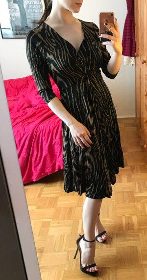 Kleid Steffen Schraut Gr. M 38 Silvester festlich langarm elegant braun schwarz