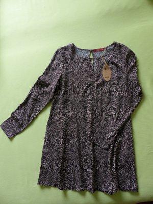 Kleid Stiefelkleid Edc Esprit Größe 40 schwarz mit kleinen Punkten