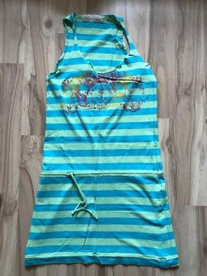 Kleid Strandkleid Größe XS S 34 36 von Fishbone gestreift grün New Yorker