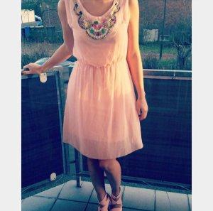 Kleid Strass S rosa nude Steinchen vintage boho blogger hipster