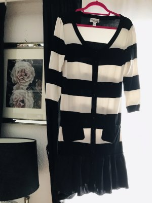 Amy Vermont Knitted Dress black-white