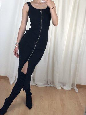 Modern Woman Stretch Dress black-silver-colored