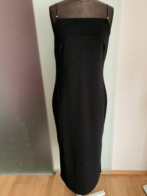 Vestido corte imperio negro-color plata