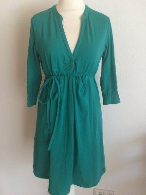 Kleid stretchig 3/4 Ärmel grün mit Gürtel von Esprit Gr. XL