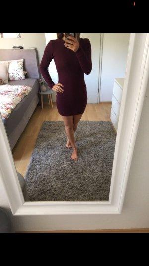 Kleid Strickkleid Herbstkleid bordeaux rot 34/36 Zara