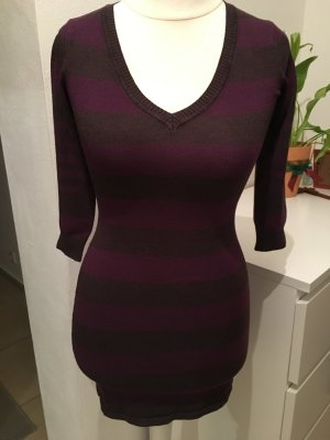 Kleid Strickkleid Pullover Longpulli gestreift Gr. XS TOP