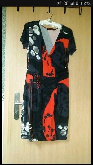 Kleid Superstition Größe L schwarz blau rot
