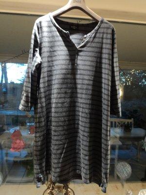 Gina Benotti Vestido de tela de sudadera gris pizarra-azul oscuro