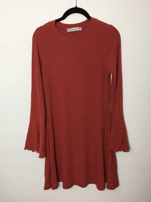Kleid Sweater Pullover Abercrombie orange Gr. M