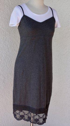 Lanius Vestido de encaje gris antracita-color plata Algodón