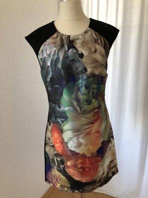 Kleid TED BAKER LONDON Schwarz Bunt Floral Größe 1