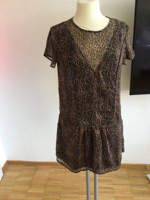 Mango Mini-jurk zwart bruin