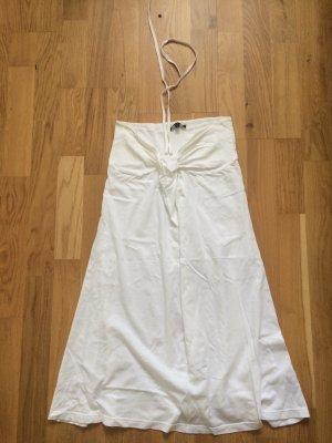 Kleid, Tommy Hilfiger, Strandkleid, weiß, S, Neckholderkleid