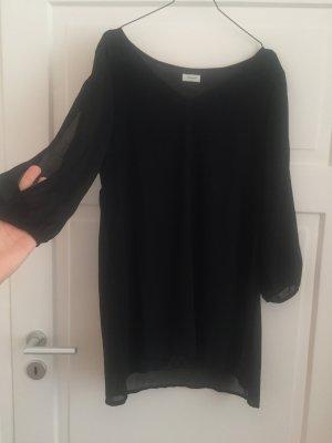 Kleid Top Oberteil Dress Cutout Schlitze an Ärmeln Schwarz Black WIE NEU