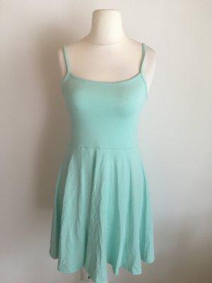 Kleid Trägerkleid Sommerkleid Basic helllau türkis Gr. S