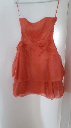 Kleid trägerlos apricot