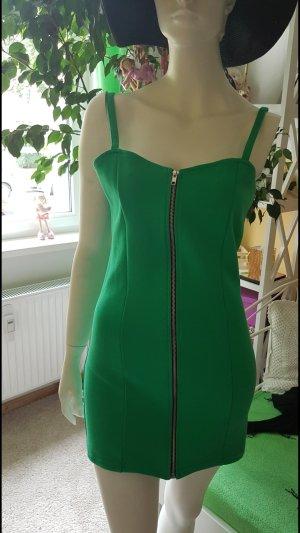 Kleid trägerlos grün
