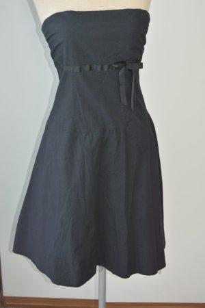 Kleid trägerlos Lipsy M 38 40 schwarz Bandeaukleid Scheife