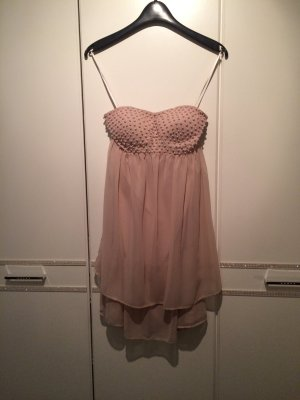 Kleid Trägerlos Nude/Rose