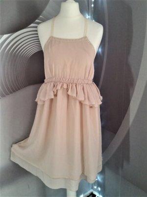 Kleid Trf Gr Neckholder Nude Gr M 38 neuwertig