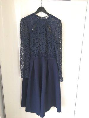 True Decadence Robe mi-longue bleu foncé-bleu polyester