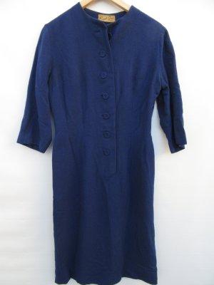 Kleid true Vintage 60er Jahre Retro blau Gr. S/M