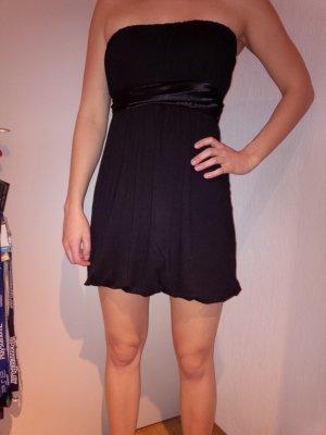 Kleid Tube Minikleid Partykleid Bandeaukleid mit Schleife schwarz NEU Gr. 36