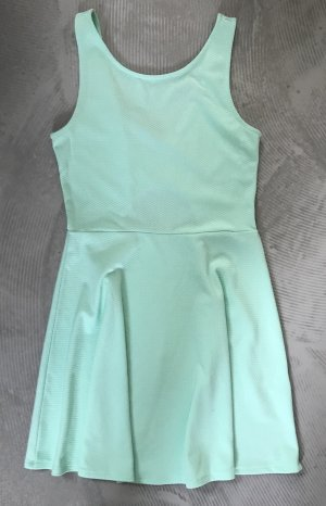 H&M Cut Out Dress turquoise