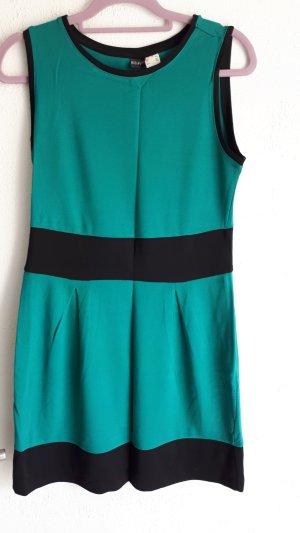 Kleid Türkis/Grün und Schwarz Gr. 36/ 38 * NEU ohne Etikett *