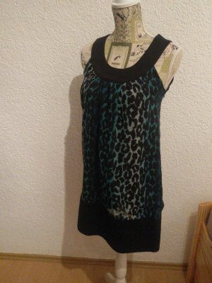 Kleid türkis/schwarz