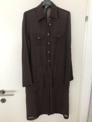 Bandolera Vestido camisero marrón oscuro
