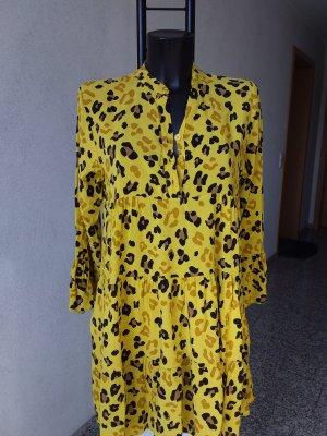 Made in Italy Robe de plage noir-jaune citron vert