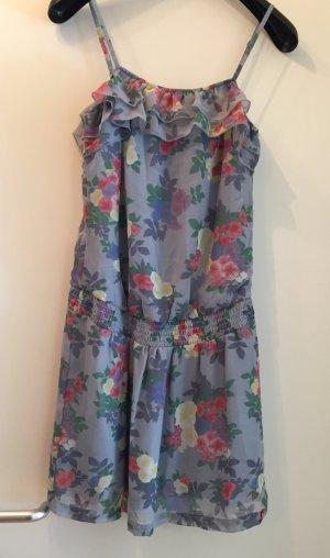Kleid Tunika Bluse Volants Rüschen edc Esprit 34 XS S Blumen Hippie