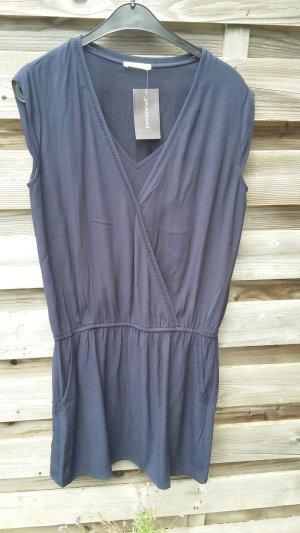 Promod Robe tunique bleu foncé