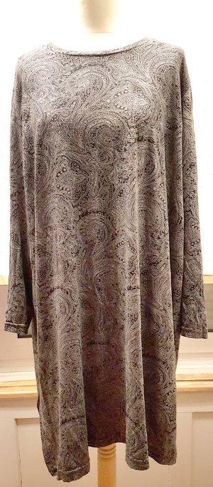 Kleid, Tunika, grau, schwarz, Paisley, Gr. 48 50