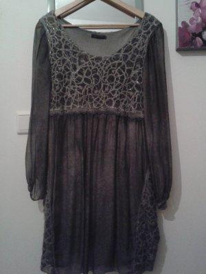 Kleid /Tunika in grau aus Seide ..sehr schön