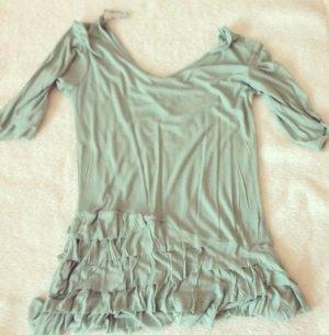 Kleid, Tunika, Langarmshirt, Rüschen, mint, S, Mustang