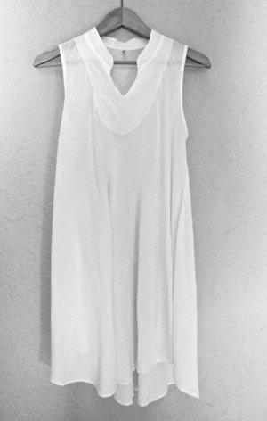 Kleid - Tunika mit nach hinten abfallendem  Saum