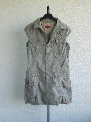 edc Robe tunique gris vert-kaki coton