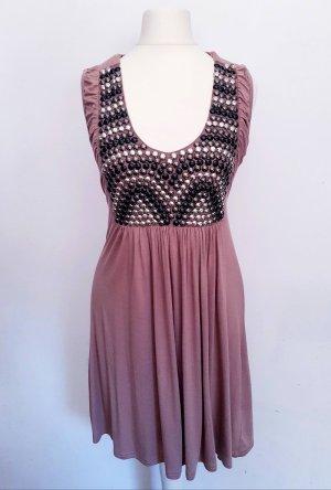 Kleid Tunika Pailletten tailliert Gr. XS S