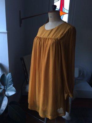 Kleid, Tunika, senfgelb, 2 mal getragen, Gr. 38, tolle Farbe und Schnitt