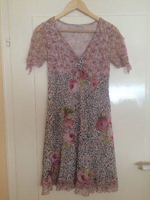Kleid Tunika von der Firma ELLY - geblümt/getigert -  Größe S