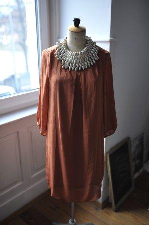 H&M Cocktail Dress brown-bordeaux polyester
