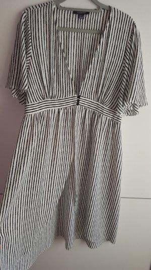 Primark Vestido tipo túnica blanco-negro