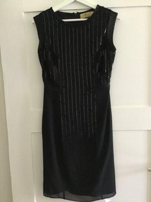 Kleid und Blazer von Pompöös by Harald Glööckler in schwarz mit Pailetten Gr.36